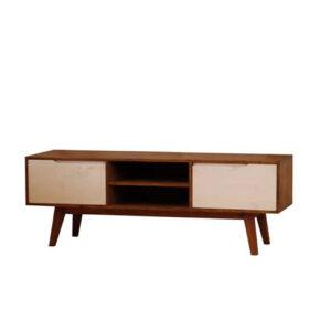 mesa tv rústica de madera maciza