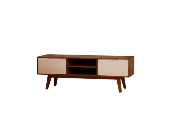mesa tv madera retro ficha